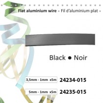 Aluminium flat wire 3.5x1mm 5m black