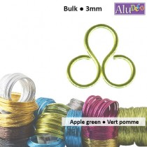 Aluminium wire 500g +/-26m 3mm apple green