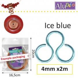 Aluminium wire 4mm 2m ice blue