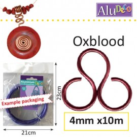 Aluminium wire 4mm 10m oxblood