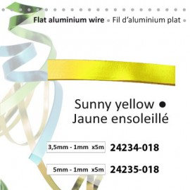 Aluminium flat wire 3.5x1mm 5m sunny yellow