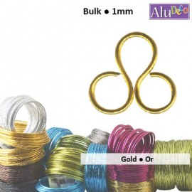 Aluminium wire 500g +/-235m 1mm gold