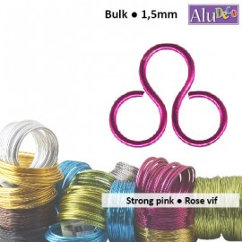 Aluminium wire 500g +/-110m 1.5mm strong pink