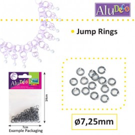 Alu Deco jump rings 7.25mm x150 anthracite