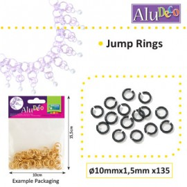 Alu Deco jump rings 10mm x135 black