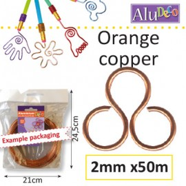 Aluminium wire 2mm 50m orange copper