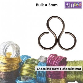Aluminium wire 500g +/-26m 3mm chocolate mat