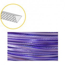 Aluminium wire triangle embossed 2,8mmx4m Soft Lilac