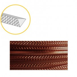 Aluminium wire triangle embossed 2,8mmx4m chocolate