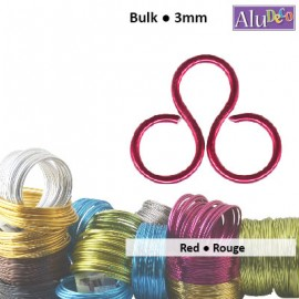 24265-007 : Aluminium wire 500g +/-26m 3mm red